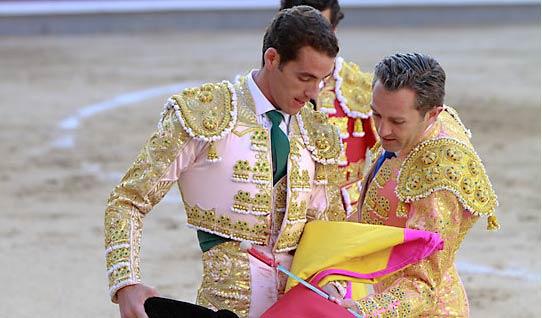 Pepe Moral confirmando su alternativa hoy en Madrid. (FOTO: las-ventas.com)