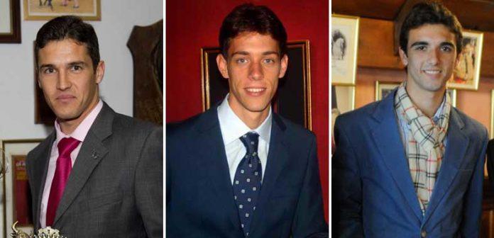 Los sevillanos Agustín de Espartinas, Antonio Nazaré y Miguel Ángel Delgado, el 15 de agosto en la Maestranza.