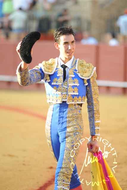 El malagueño Jiménez Fortes, esta tarde en la Maestranza. (FOTO: Matito)