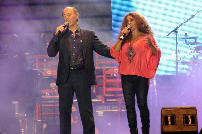 Ambos protagonizaron una de las canciones más aplaudidas.