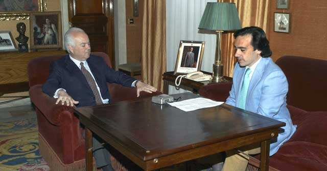 Alfonso Guajardo en una entrevista concedida a Francisco Mateos, director de SEVILLA TAURINA. (FOTO: Matito)