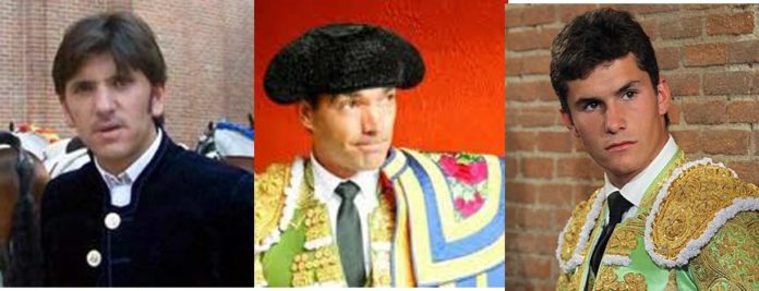 Los sevillanos Diego Ventura, El Cid y Daniel Luque.