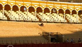 Los sufridos tendidos de sol de la Maestranza. (FOTO: Javier Martínez)