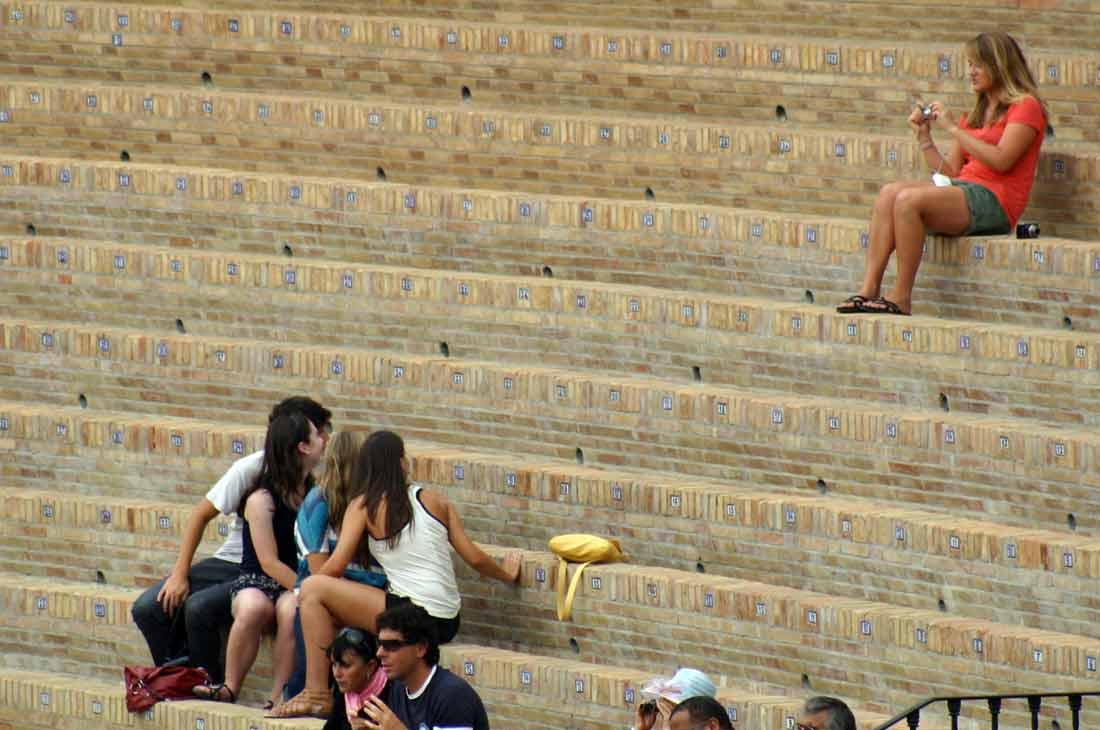 Un foto para recordar que estuvieron en el templo del toreo... (FOTO: Javier Martínez)