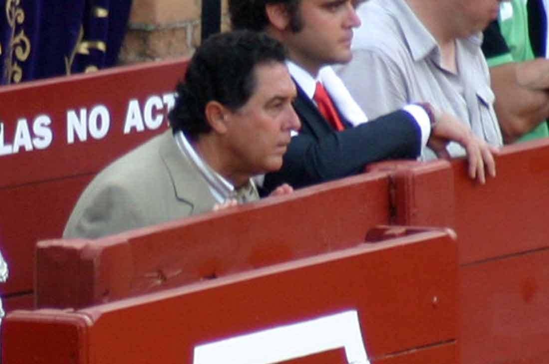 El sevillano Tomás Campuzano, apoderado de Emilio Huertas.