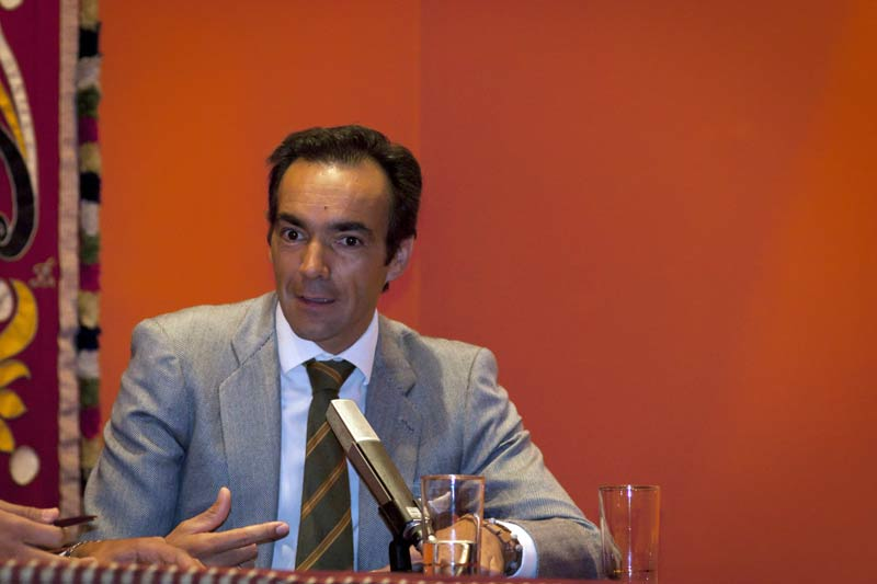 El Cid, en su intervención de clausura. (FOTO: Juan Gabriel Jaén)