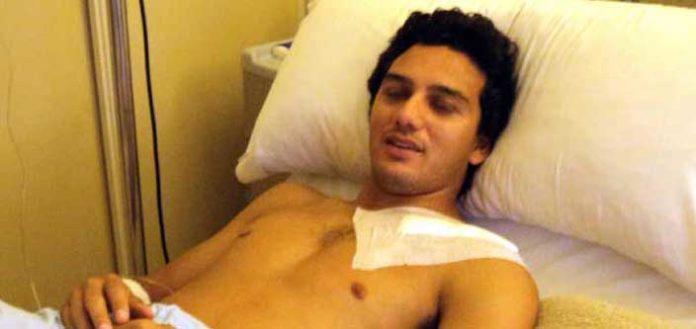 Oliva Soto, en el hospital tras la operación de clavícula izquierda. (FOTO: Javier Martínez)