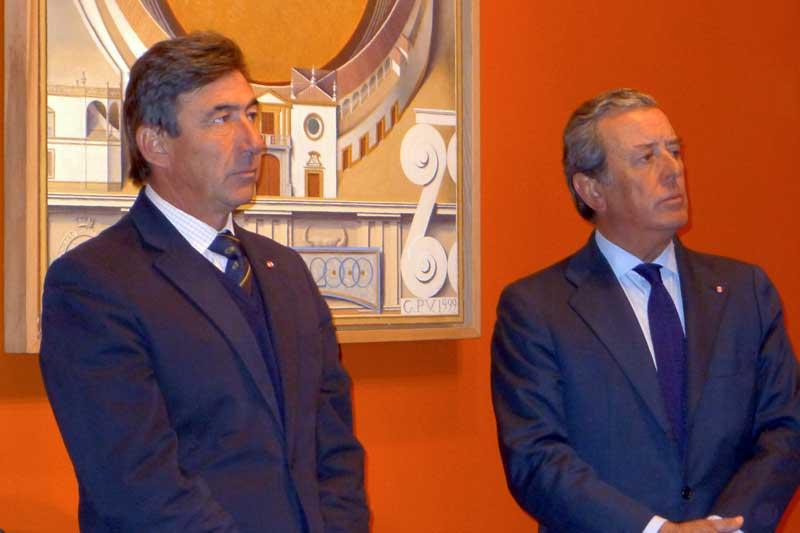 Los maestrantes Santiago León y Javier Benjumea.
