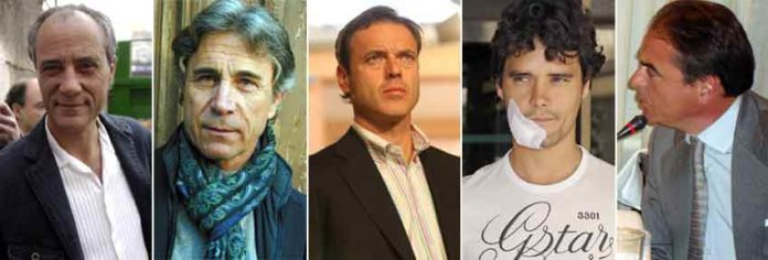Salvador Boix, Roberto Domínguez, Cepeda, Abellán e Ignacio González.