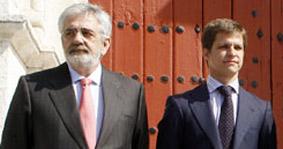 Eduardo Canorea y El Juli, mirando en sentidos opuestos. (FOTO: Arjona/Toromedia)