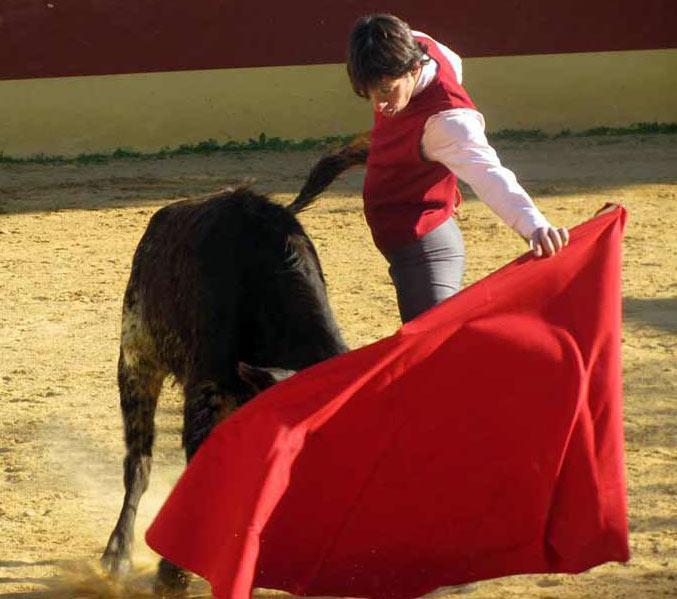 Templado natural de Nazaré a una becerra de Conde de la Maza. (FOTO: Ganadería Conde de la Maza)