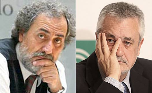 El Defensor del Pueblo Andaluz, José Chamizo, y el presidente de la Junta de Andalucía, José Antonio Griñán.