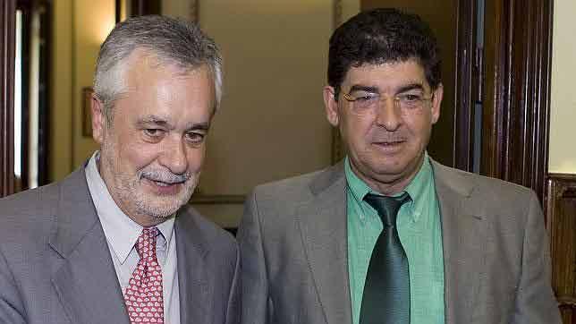 El socialista José Antonio Griñán y Diego Valderas, representante en Andalucía de Izquierda Unida.
