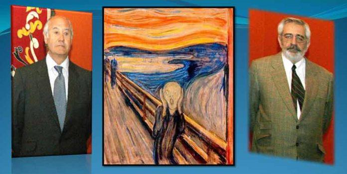 'El Grito': alguien grita 'horrorizado' al acercarse dos sombras.