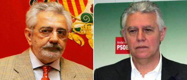 El empresario Eduardo Canorea y el consejero de Gobernación, Francisco Menacho.