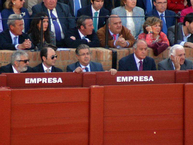 Eduardo Canorea, Juan Ignacio Zoido, Ramón Valencia y Santiago Herrero.