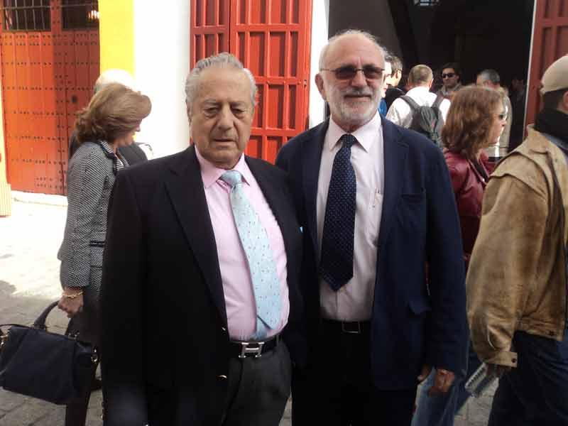 Miguel Báez 'Litri' y Fernando Vázquez.