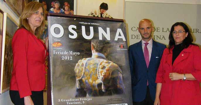 José Luis Peralta presenta el cartel de la Feria de Osuna. (FOTO: Eduardo Porcuna)