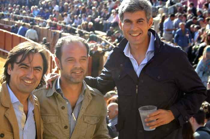 Los banderilleros de moda: Juan JoseTrujillo y Curro Javier.