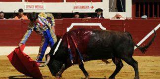 Antonio Barrera, en un derechazo a su primer toro en la reciente Feria de Vic-Fezensac. (FOTO: mundotoro.com)
