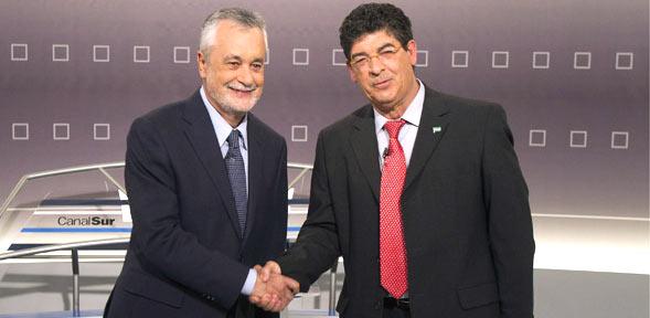 Diego Valderas (IU-Los Verdes), a la derecha, será el nuevo consejero de Gobernación.