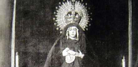 La Virgen Macarena, única vez que vistió de luto por la muerte de Joselito.