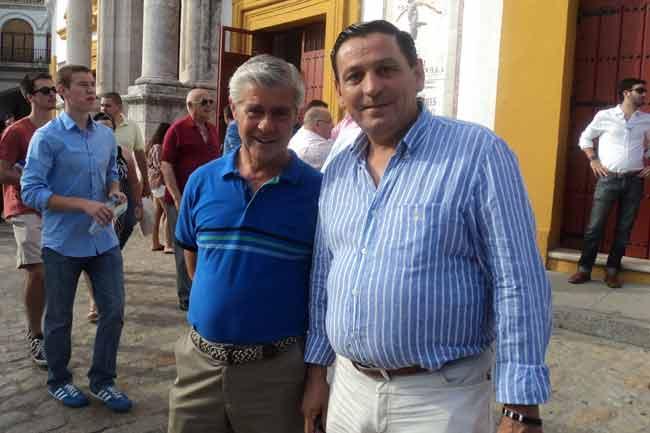 Los banderilleros Rubio de Utrera y Rafael Guerrero.