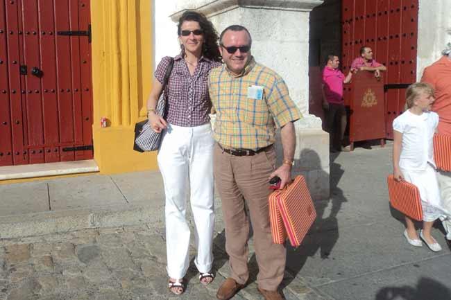 El sastre taurino afincado en Sevilla, Pedro Algaba.