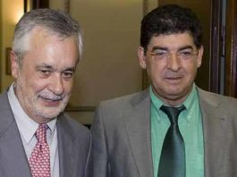 El presidente de la Junta de Andalucía, José Antonio Griñán (PSOE), y el vicepresidente Diego Valderas (IU).