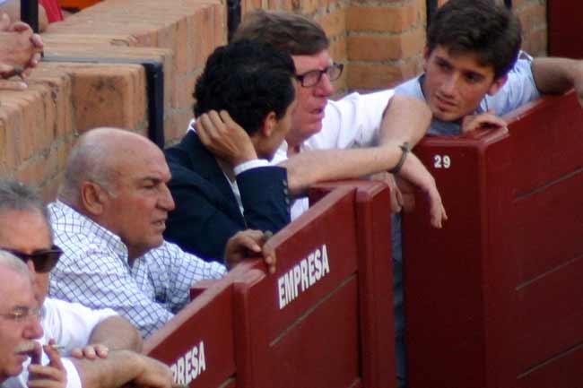 El ganadero José Luis Pereda y el humorista César Cadaval.