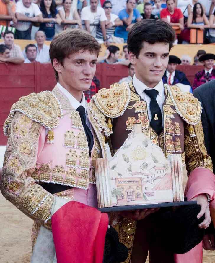 Francisco Lama y José Garrido, en la entrega de premios. (FOTO: Joaquín Corchero)