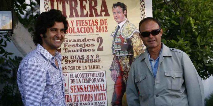 Morante y Pepe Luis Vázquez, esta tarde en El Toruño (Utrera). (FOTO: Toromedia)