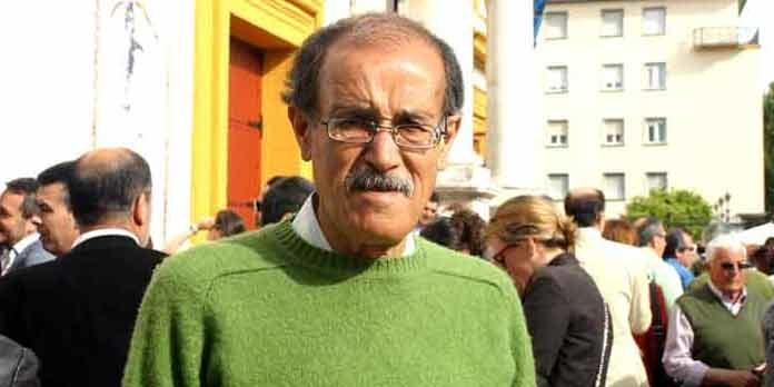 Paco Moreno, pregonero hoy en su pueblo de La Algaba. (FOTO: Javier Martínez)