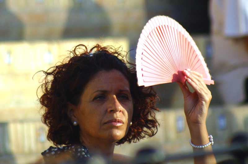 Tarde muy calurosa en Sevilla.