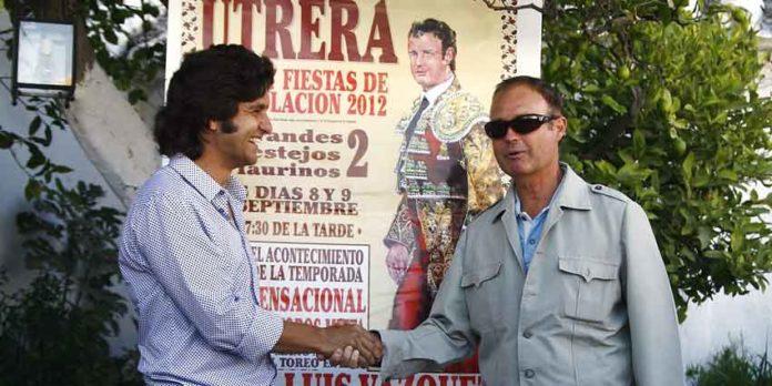 Morante y Pepe Luis en la presentación del cartel de Utrera.