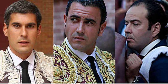 Los sevillanos Curro Javier (banderillero), Pedro Morales 'Chocolate' (picador) y Javier Castro (mozo de espadas) continuarán un año más en el equipo de Manzanares. (FOTOS: las-ventas-com)