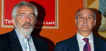Los empresarios de la Maestranza, Eduardo Canorea y Ramón Valencia.