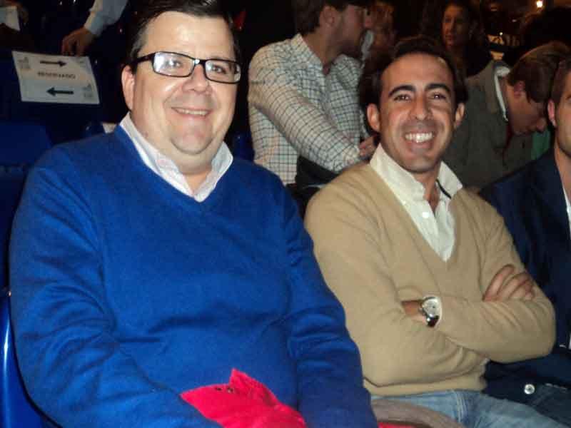 El aficionado Fran Arispón y el empresario taurino Enrique Peña.