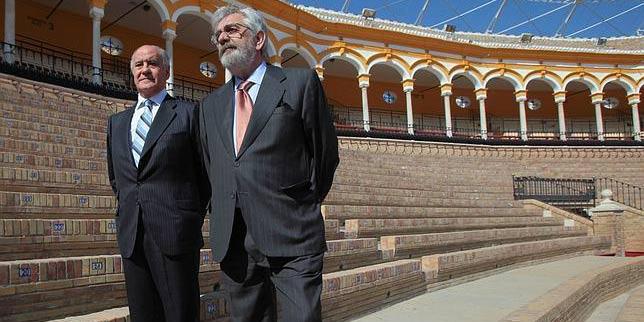 Los empresarios de la Maestranza, Ramón Valencia y Eduardo Canorea.