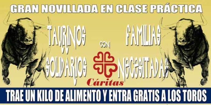 Cartel del festejo benéfico en Espartinas.