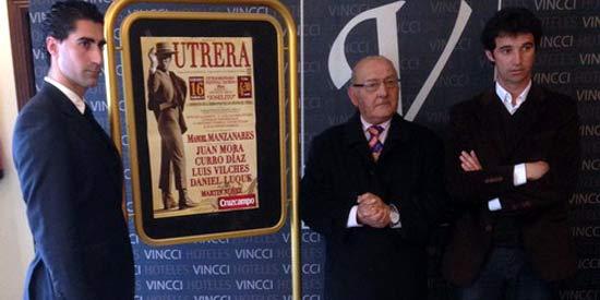 Martín Núñez, Juan Peña y Luis Vilches, en la presentación.
