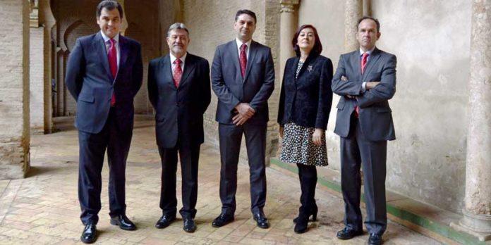 José Luque Teruel, Gabriel Fernández Rey, el delegado de la Junta Francisco Javier Fernández, Anabel Moreno y Fernando Fernández-Figueroa.