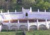 La peculiar plaza de toros de Cazalla de la Sierra.