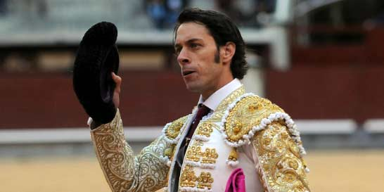 Antonio Nazaré, en la vuelta al ruedo esta tarde en Madrid. (FOTO: Julián López/mundotoro.com)