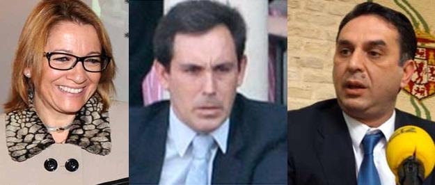 Un trío de difícil estabilidad: la ex delegada de la Junta, Carmen Tovar; el veterinario 'enchufado', Álvaro Pedregosa; y el nuevo delegado de la Junta en Sevilla, Javier Fernández.