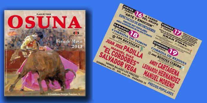 Cartel para la Feria de Osuna 2013.