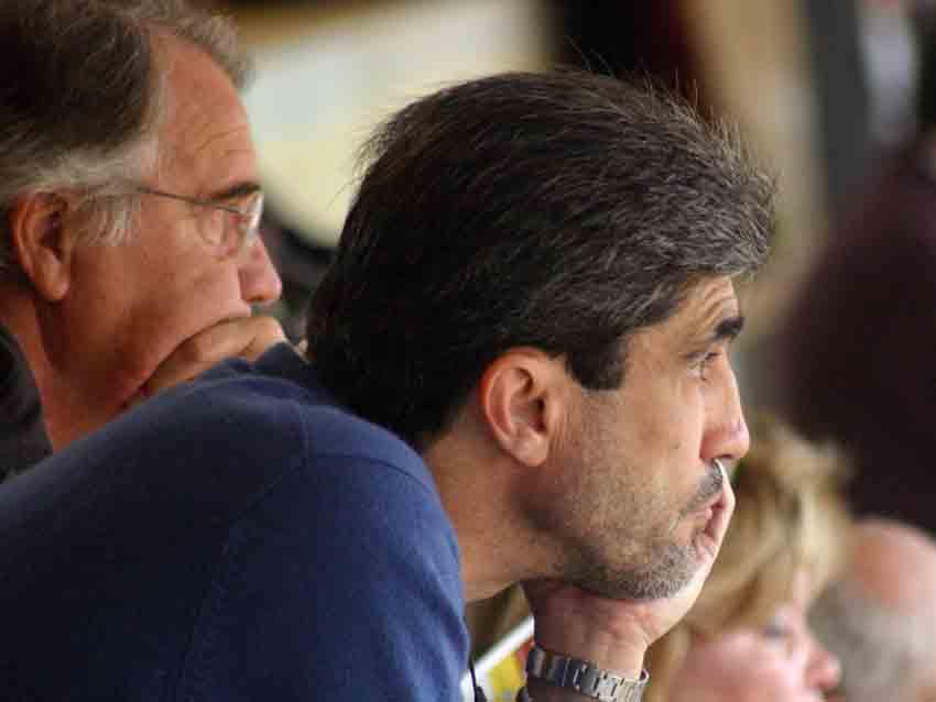 El trianero Emilio Muñoz, y su inseparable y fiel amigo Manolo Luque.