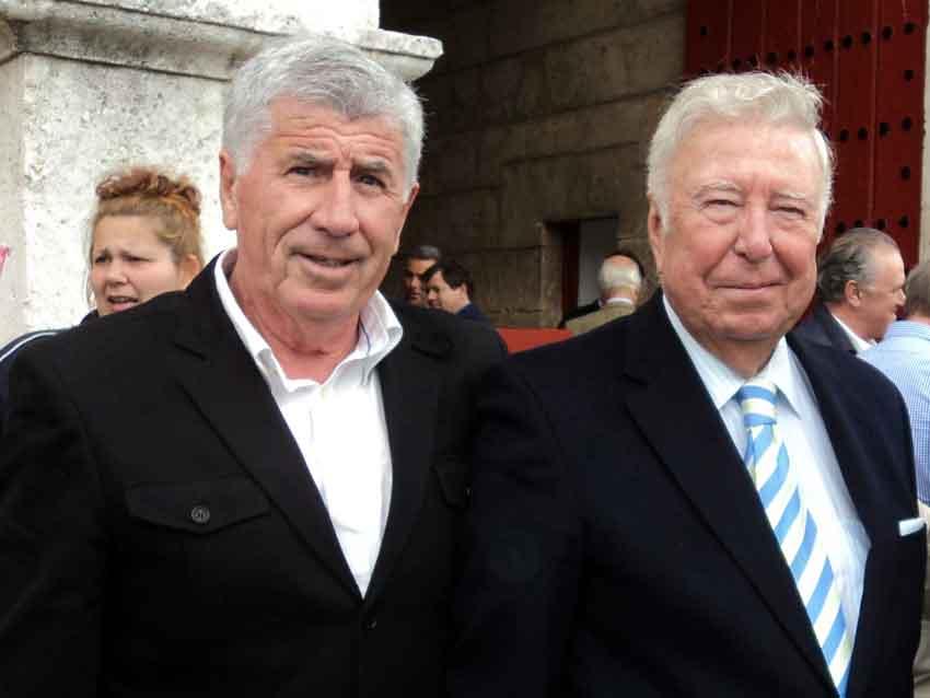 Los onubenses Paco Pirfo y José Luis García Palacios.