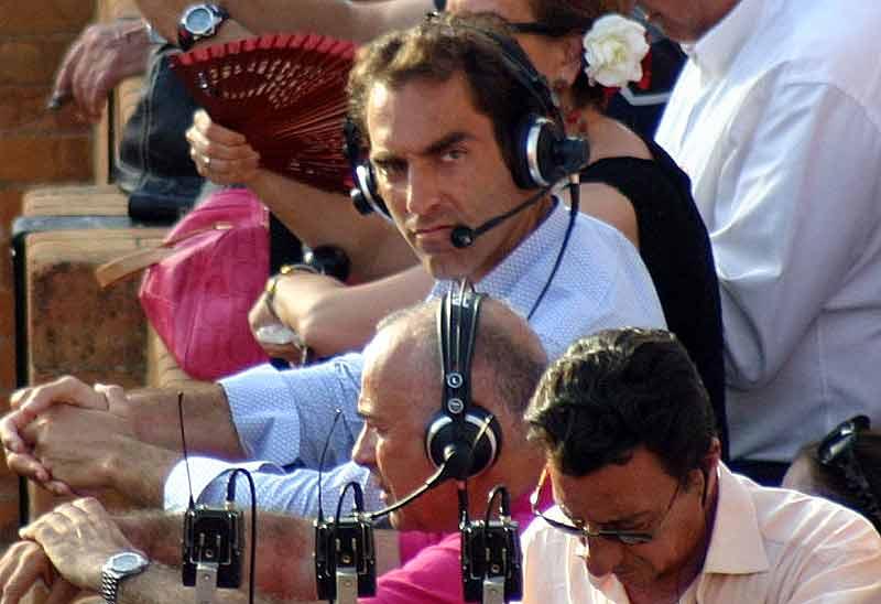 Salvador Cortés, invitado a la retransmisión de la corrida de 'Carrusel Taurino'.