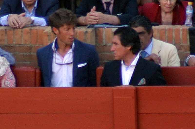 Manuel Escribano y su apoderado, Manuel Campuzano.